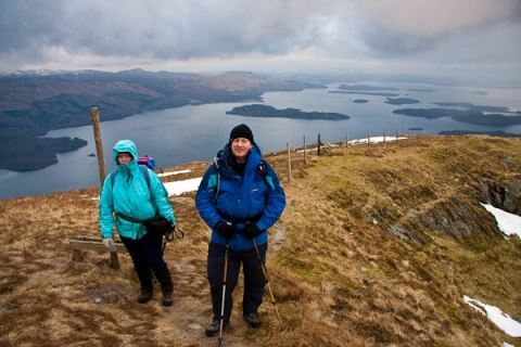 Catherine and Gerry on Ben Dubh